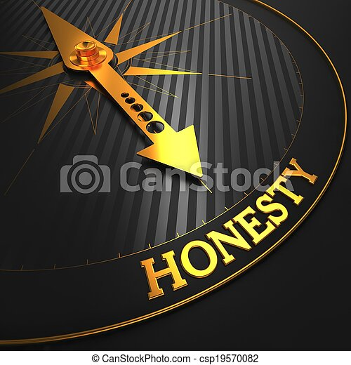 Honesty Concept on Golden Compass. - csp19570082