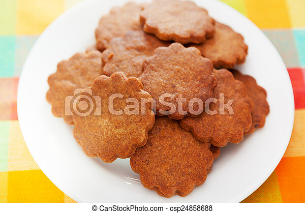 Honey cookies with cinnamon - csp24858688