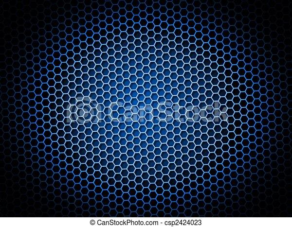 Honeycomb Background Blue - csp2424023