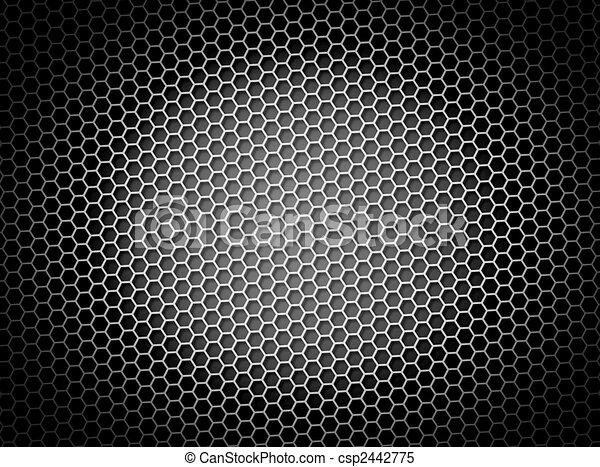 Honeycomb Background BW - csp2442775