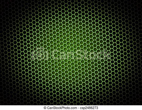 Honeycomb Background Green - csp2486273