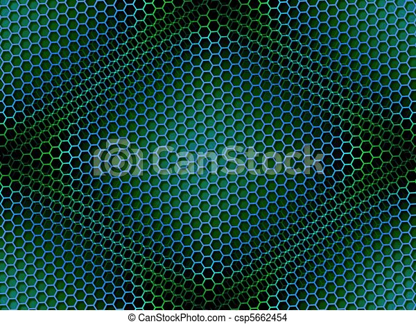 Honeycomb Background Seamless Blue Green - csp5662454