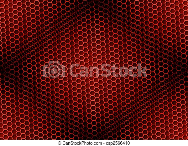 Honeycomb Background Seamless Red - csp2566410