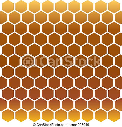 Honeycomb Gold Eps Vectors