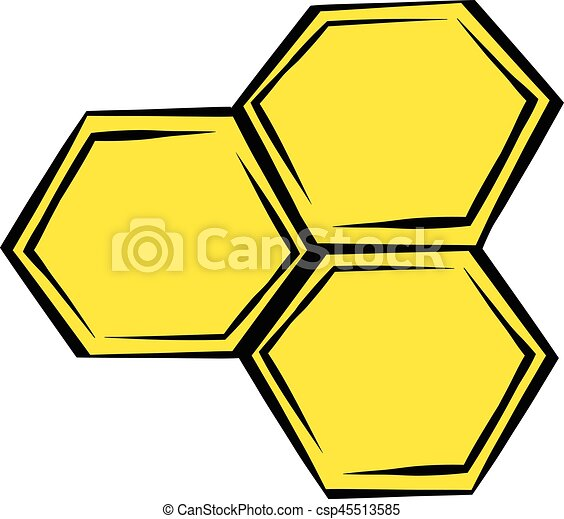 honeycomb icon icon cartoon honeycomb icon in icon in vector rh canstockphoto com honeycomb clipart png bee honeycomb clipart