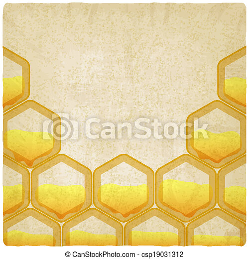 honeycomb old background - csp19031312