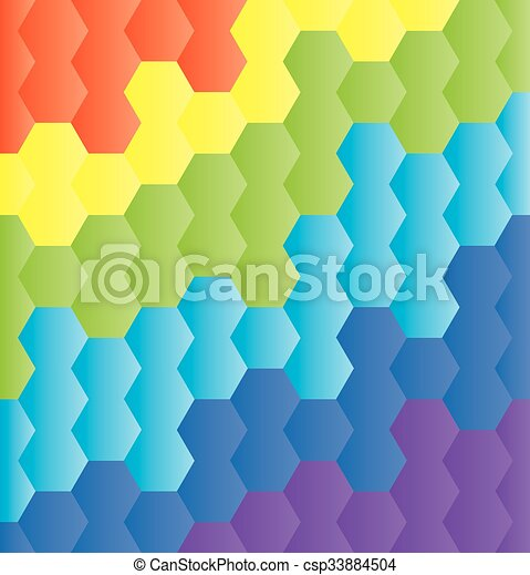 honeycomb rainbow - csp33884504