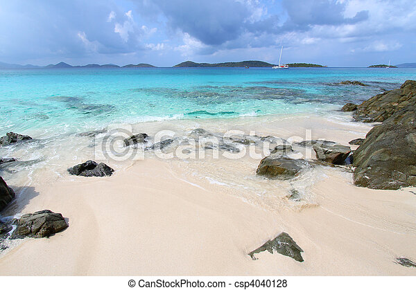 Honeymoon Beach - St John (USVI) - csp4040128
