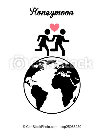 Honeymoon Design Vector Illustration Eps10 Graphic Vectors
