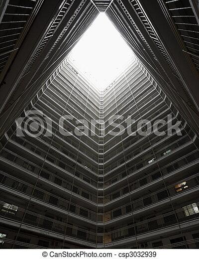 El edificio de viviendas públicas de Hong Kong - csp3032939