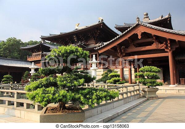 hong, boeddhistische tempel, kong - csp13158063