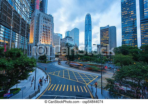 Ciudad Hong Kong. - csp54844074