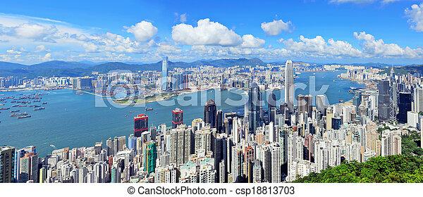 hong, district, kong - csp18813703