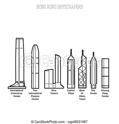hong, drapacze chmur, kong - csp49031987