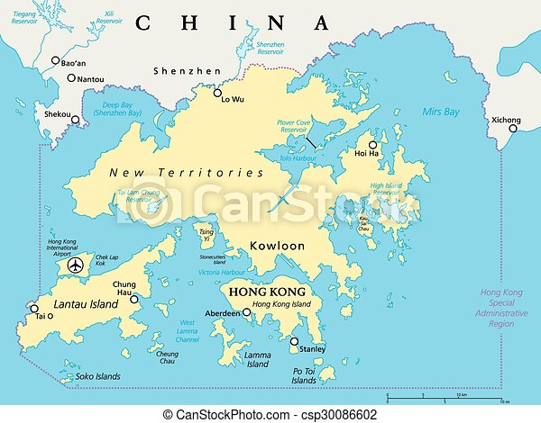 Hong kong and vicinity map hong kong and vicinity political hong kong and vicinity political map world financial centre and special administrative region in guangdong province of china english labeling and scaling gumiabroncs Images