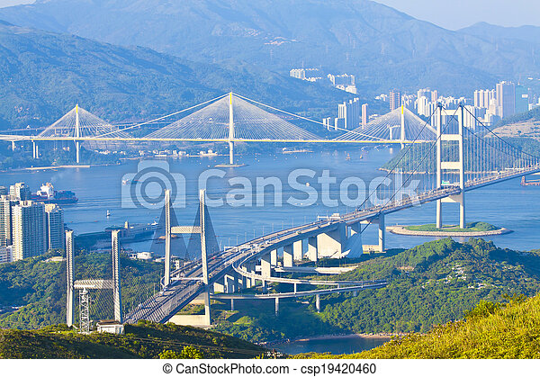 Hong Kong bridges - csp19420460