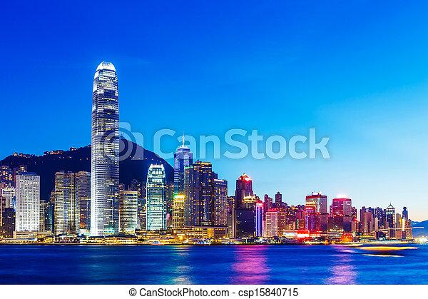 Hong Kong cityscape - csp15840715