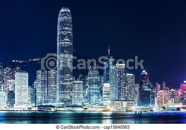 Hong Kong cityscape - csp15840563