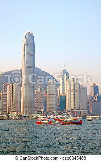 Hong Kong ferry - csp6345488