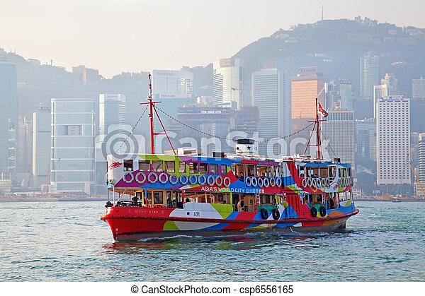 Hong Kong ferry - csp6556165
