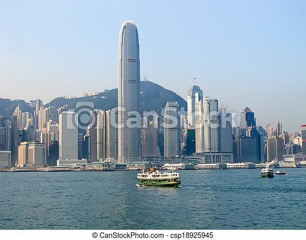 Hong Kong ferry - csp18925945