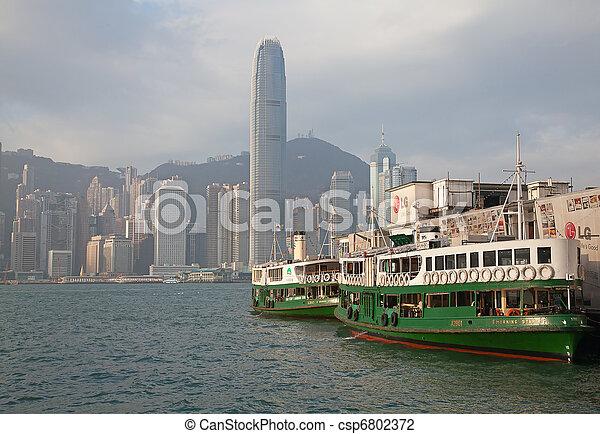 Hong Kong ferry - csp6802372