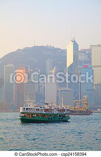 Hong Kong ferry - csp24158394
