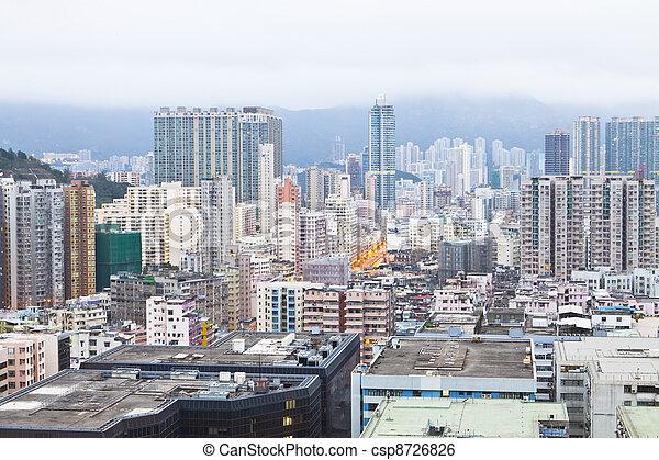 Hong Kong housing development - csp8726826