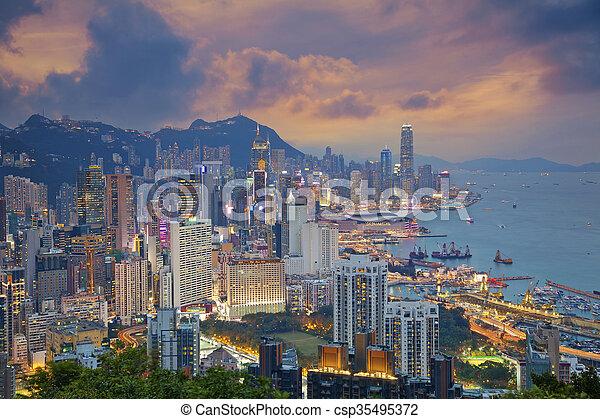 Hong Kong. - csp35495372