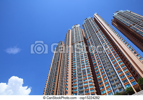 Hong Kong residential housing - csp15224282