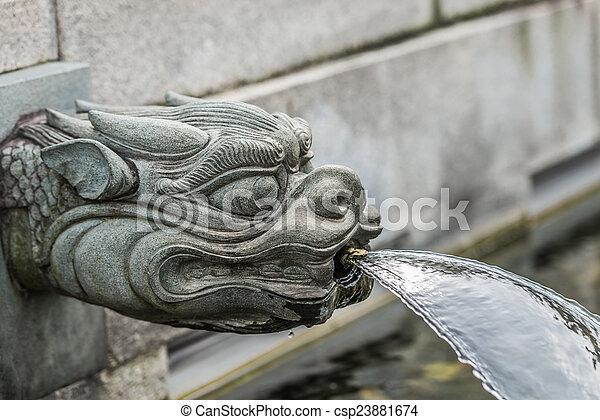 hong, nonnenklooster, chi, lin, draak, fontijn, kowloon, kong - csp23881674