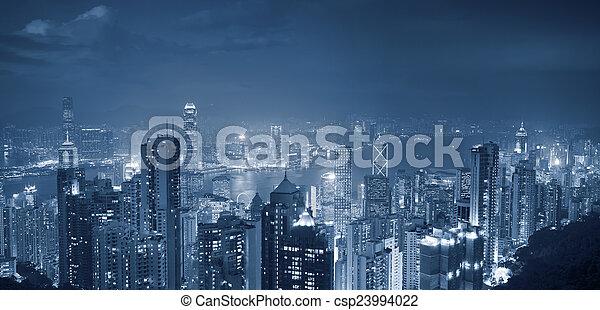 hong, panorama., kong - csp23994022