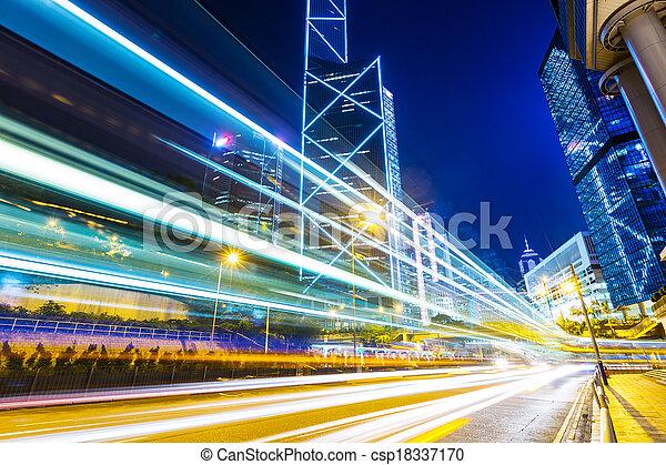 Verkehr in Hong Kong - csp18337170