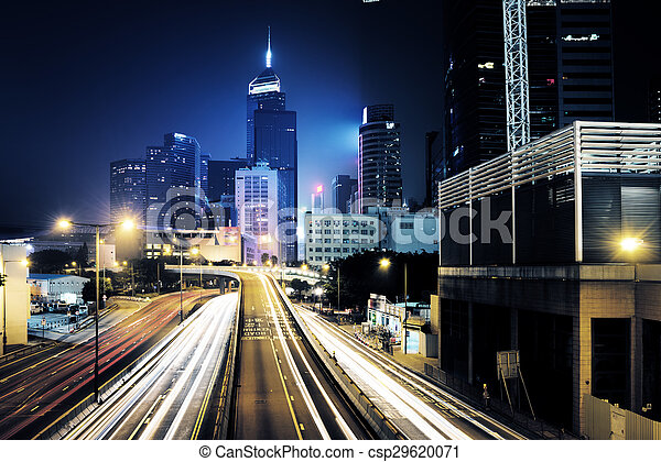 Verkehr in Hong Kong - csp29620071