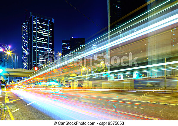 Verkehr in Hong Kong - csp19575053