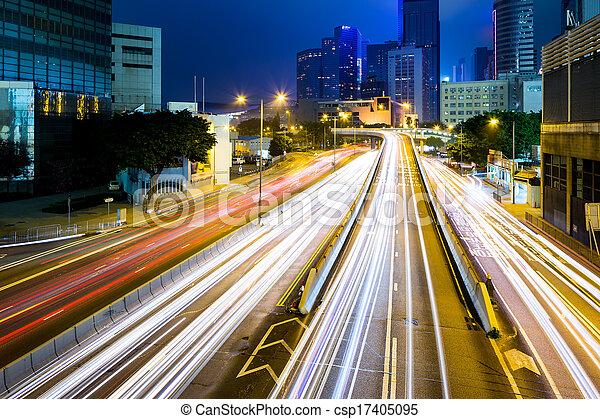 Verkehr in Hong Kong - csp17405095