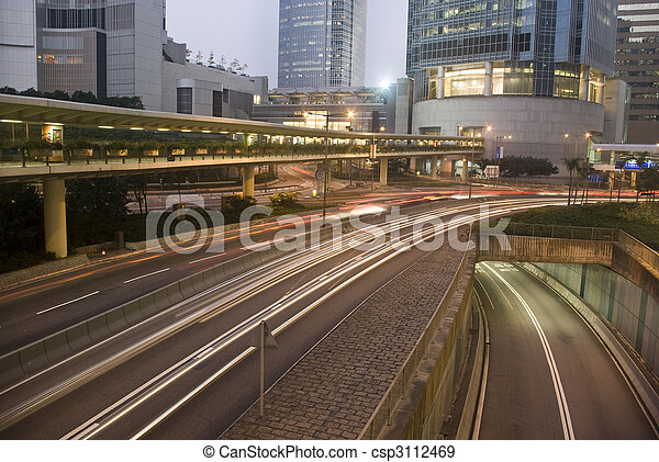 Verkehr in Hong Kong - csp3112469