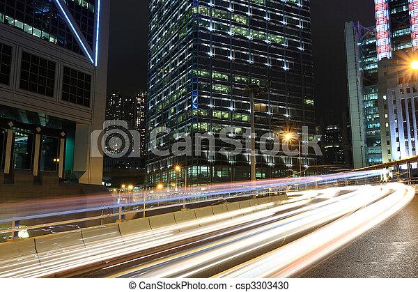 Der Verkehr in der Innenstadt, Hong Kong - csp3303430