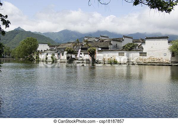 Hongcun south lake - csp18187857