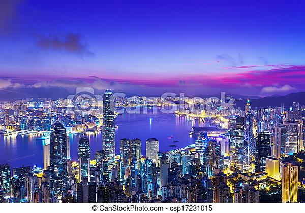hongkong, morgen - csp17231015
