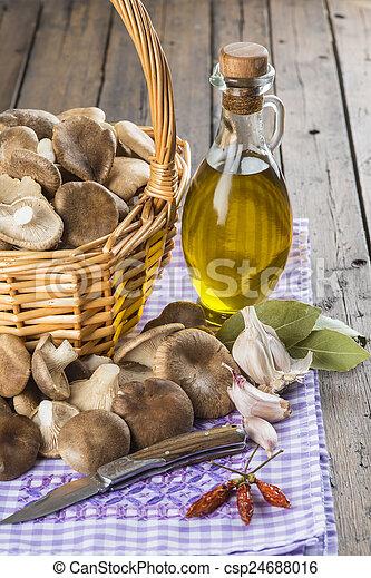 Hongos, Cesta, Cocinar Los Ingredientes   Csp24688016