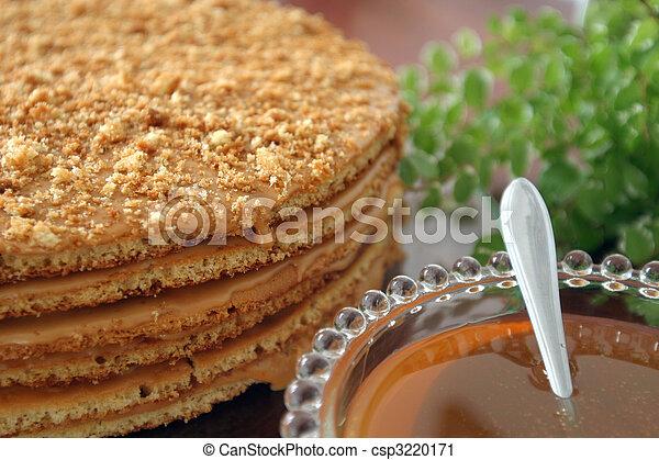 Honig, Kuchen. Honig, Altes , Selbstgemacht, Sehr, Rezept