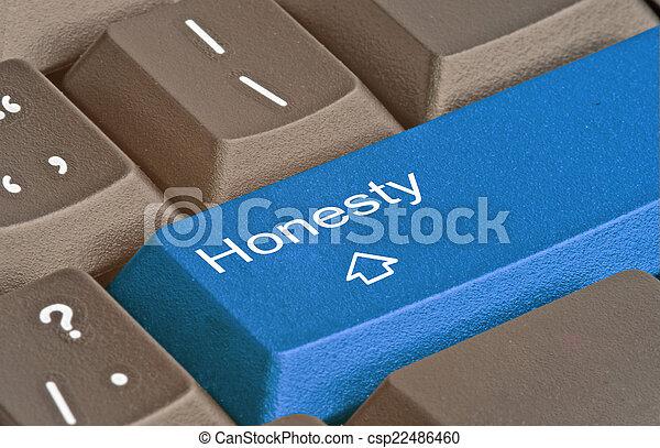 honnêteté, clã© - csp22486460