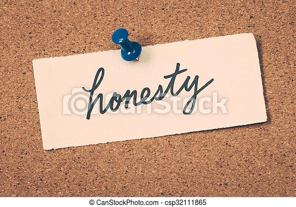 honnêteté - csp32111865