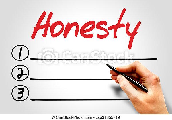 honnêteté - csp31355719