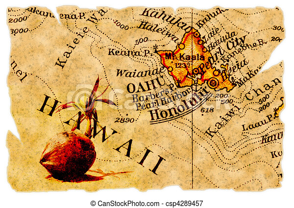 Honolulu old map - csp4289457