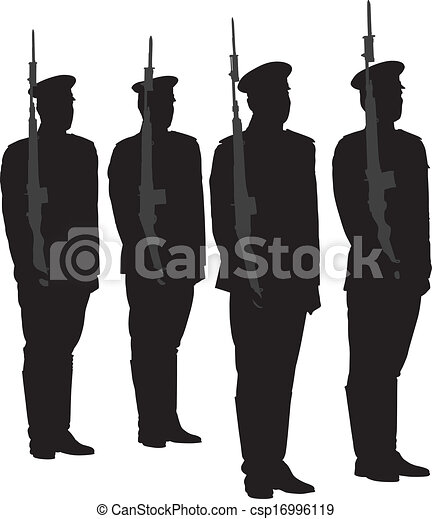 Honor guard silhouette on white background honor guard silhouette csp16996119 publicscrutiny Choice Image