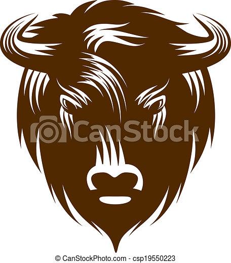 hoofd, buffel - csp19550223