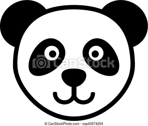 Hoofd panda spotprent - Tete de panda dessin ...