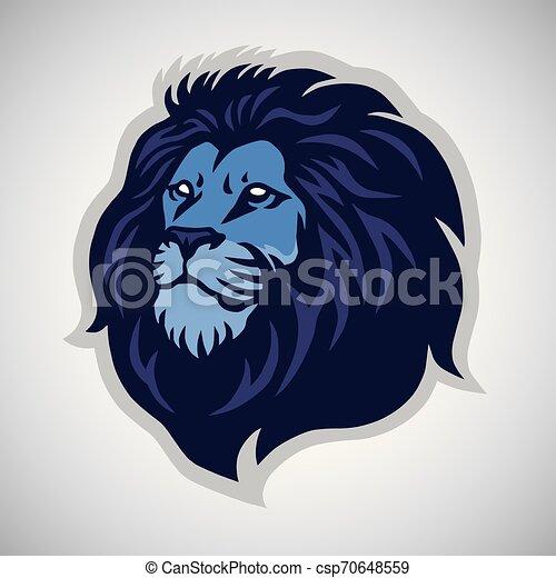 hoofd, sporten, leeuw, vector, mal, logo, mascotte, pictogram - csp70648559
